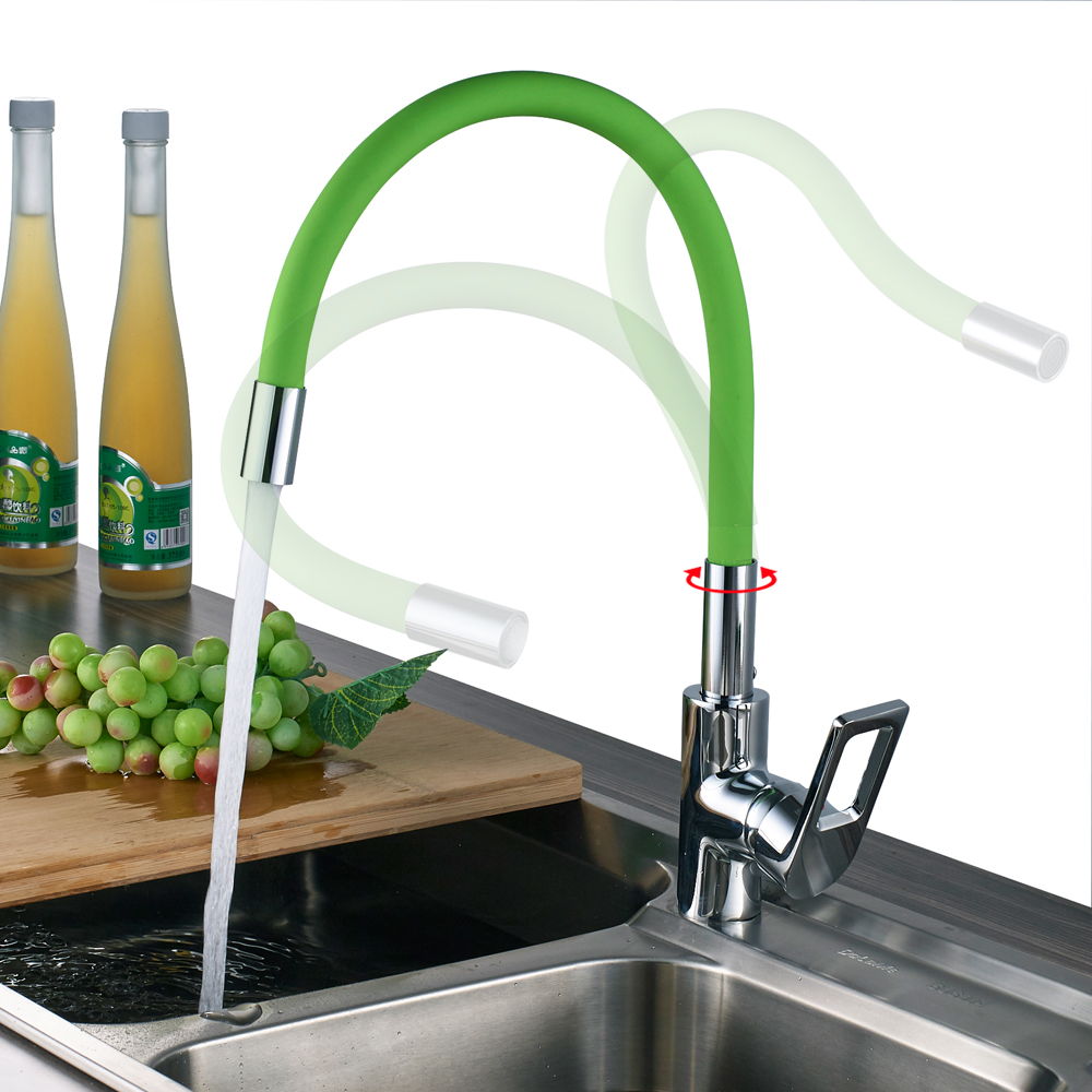 Universal Bathroom Kitchen Mixer Taps Single Handle Flexible Nose ...