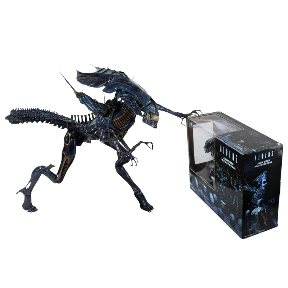 30cm High-quality Aliens Predator Xenomorph Alien Blue Queen Mother PVC Action Figure Doll Collectible Model toys neca alien lambert compression suit aliens defiance xenomorph warrior alien pvc action figure collectible model toy 18cm