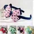 Retail 1pcs Fashion Girl pink flower hair clasp baby girl headwear children hair ornament  hiarband-18