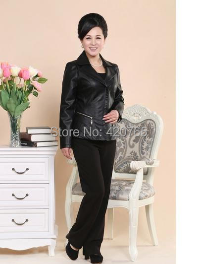 Womens Clothing Leather Coats Jackets Winter In Older -5376