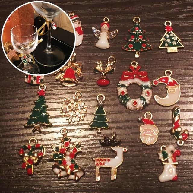 Schmuck Weihnachten.Us 2 3 23 Off 19 Teile Los Weihnachten Hängende Ornamente Diy Schmuck Anhänger Xmas Tree Decor Weihnachten Requisiten V5942 In 19 Teile Los