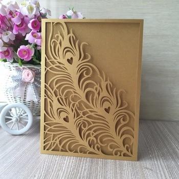 100pcs Laser Cut Wedding Invitations Elegant Wedding Invitations Cards Greeting Card Gold&TIffany blue Event Party Supplies