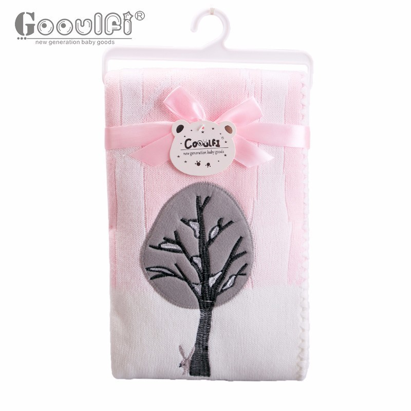 GOOULFI Newborn Swaddle Blankets Baby Pink With Pattern 75 X 100cm High Quality Free Shipping Factory Directly Baby Blanket free shipping h letter blanket brand designer home blankets wool cashmere car travel portable blankets throw bed 158x138cm size