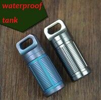 F4 Pure Titanium Outdoor Survival Waterproof Tank Medicine Pill Bottles Mini EDC Box For Storage Cigarette