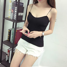 4117ad86d303b2 Women Camisole Hot Knit Tank Tops Vest Stretchable Simple V Neck Slim Sexy  Straps(China