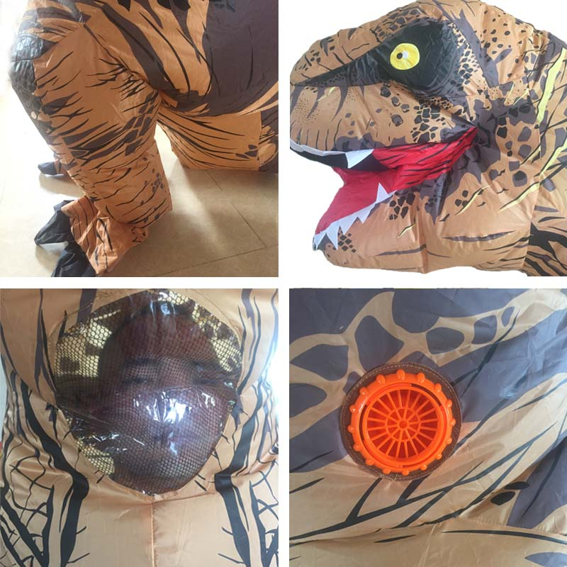 Adult T REX Costume Inflatable Dinosaur Party Costume Suit For Anime disfraces adultos costume Halloween Costumes for Women Men (12)