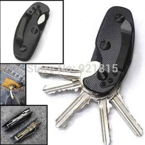 Engrenagem EDC keychain chave titular braçadeira pasta de bolso ferramenta multi organizer coletor de smart clip kit bar gadget acampamento ao ar livre