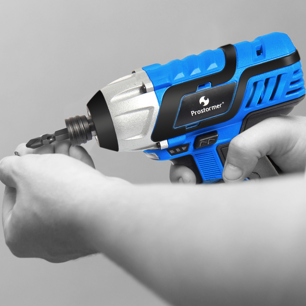 PROSTORMER 12V Electric Screwdriver 100NM Cordless Rechargeable Lithium Battery Drill Screwdriver Screw Power Tools