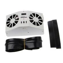 High grade Solar Powered Exhaust Fan Car Gills Car Cooler Auto Ventilation Fan Dual mode Power