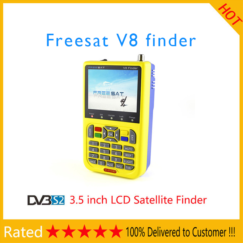 FREE SAT V8 Satellite Finder DVB-S2 V-71 HD MPEG-2/MPEG-4 FTA Digital Satellite Meter 3.5 inch LCD Display Satellite TV Receiver free shipping fmuser futv4031a quad fta ird satellite receiver 4 dvb s rf input asi output av out with demodulating