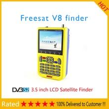 FREE SAT V8 Satellite Finder DVB-S2 V-71 HD MPEG-2/MPEG-4 FTA Digital Satellite Meter 3.5 inch LCD Display Satellite TV Receiver