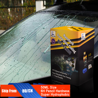 Rising Star RS A CCZ02 Nanotech Crystal Glass Coating 50ml Kit Water Repellent Nano Hydrophobic Auto