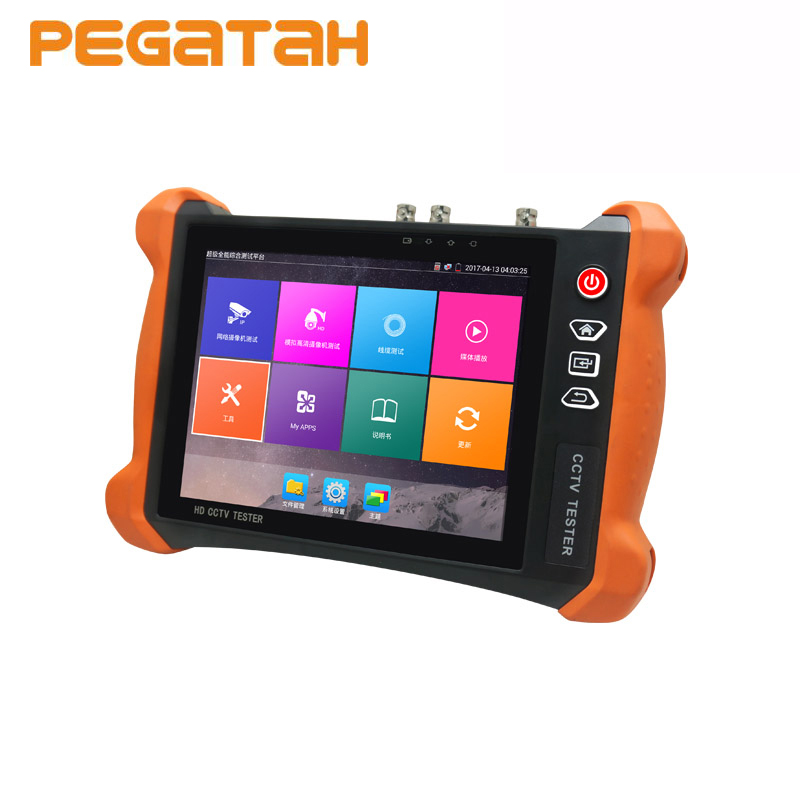 цена на 8 inch 4K H.265/H264 CCTV Tester HD IP Camera Tester Support Video Level Meter Cable Tracer RJ45 TDR Cable Analog SDI IPC Tester