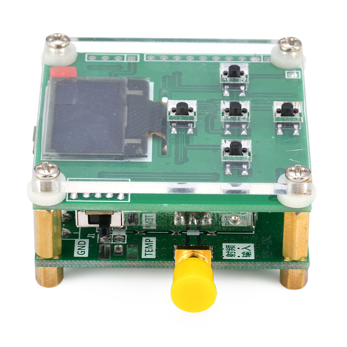 High Accuracy 8GHz RF Power Meter 1-8000Mhz OLED -55 - -5 dBm + Sofware RF Attenuation Value Mayitr Electrical Instruments