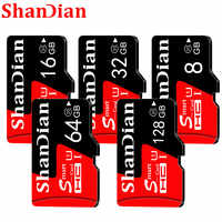 SHANDIAN Micro SD Karte U3 4K video Class 10 High Speed Speicher Karte 128GB 64GB 32GB 16gb U1 Class 10 SD Karte für Handys Kameras