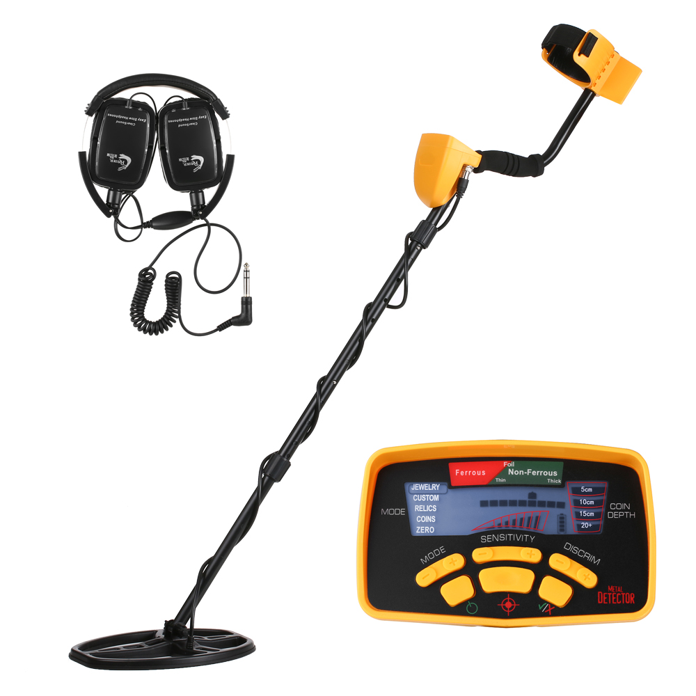 Professional Metal Detector High Sensitivity Underground Metal Detector Search Gold Treasure Jewelry LCD Display with Earphone цена