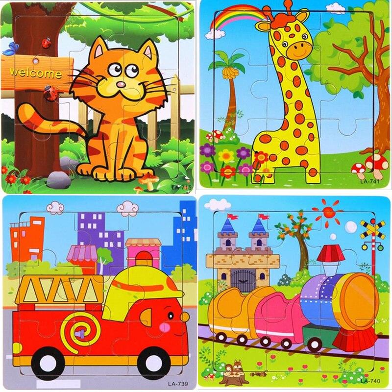 24 stilovi Životinje Drvene 3d Puzzle Dječji Obrazovne igračke - Igre i zagonetke - Foto 3