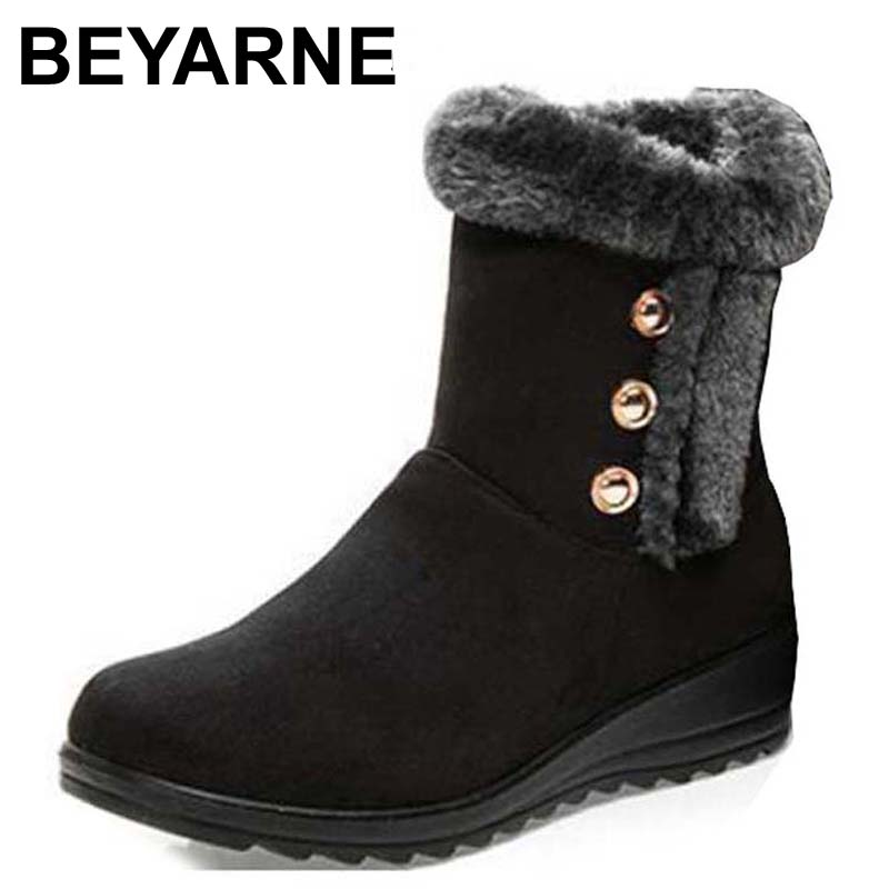 BEYARNE wholesale Australia Classic Tall Bailey Button Snow Boots Women's Real Leather Winter Classic Short Shoes  snow boots ugg australia womens classic tall boot