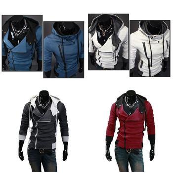 2019 Newly Hot Men Zip Up Hooded Sweatshirt Slim Fit Autumn Coat Tops Warm Outwear MSK66