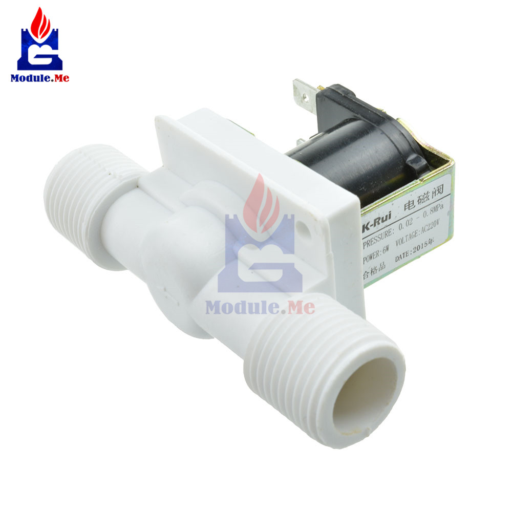"""1//2/"""" AC220V N//c Magnética Eléctrica Solenoide Válvula entrada de aire de Agua Interruptor de flujo NUEVO"""
