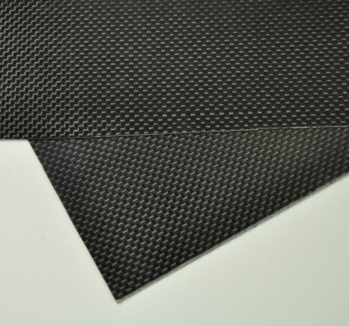 100mmX250mmX0.3mm 100% carbon plaatplaat vel 3K plain weave glanzend