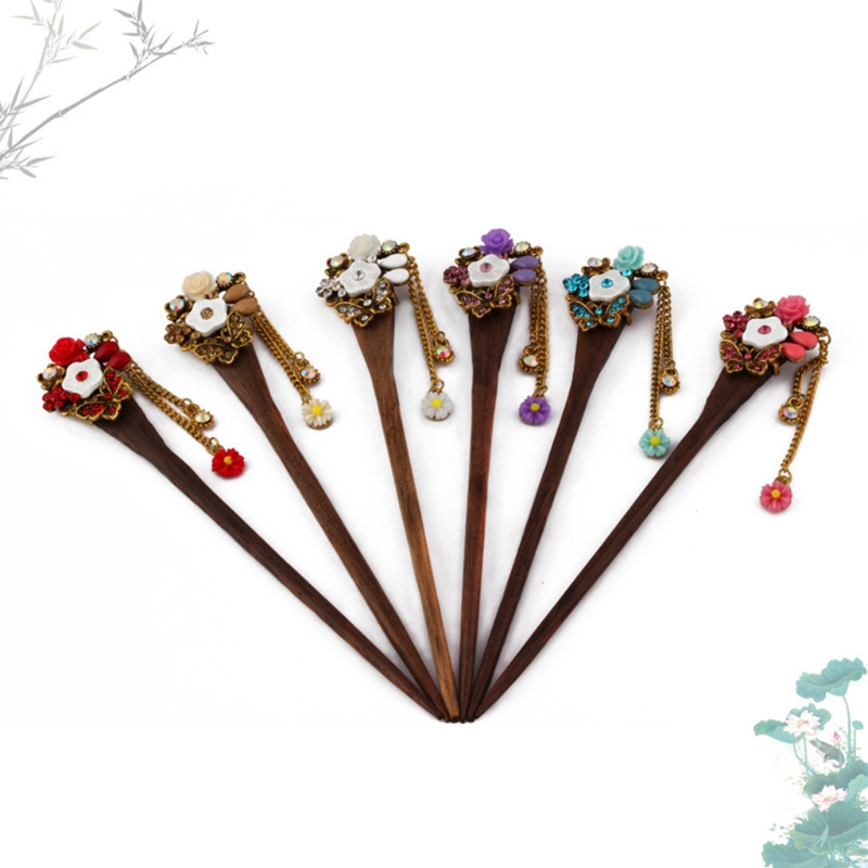 Retro Traditional Wooden Hairpin 2