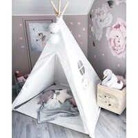 Детская игровая палатка Вигвама, 100% хлопок, холст, детский игровой домик типи, для помещений, для улицы, игрушки для мальчиков и девочек, пода...