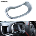 For KIA Sportage 4 QL 2016 2017 Car-Styling Console Vehicle Navigation Frame Cover Decorative  Interior Sequins Trim Car Styling