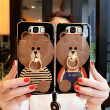ФОТО for samsung galaxy s8 plus case s8+ cover s8 + soft border cartoon bear cases for samsung galaxy s8plus back cover g9550 shell