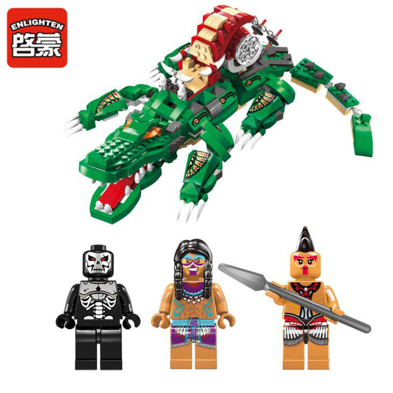 2017 New Enlighten Pirate Series Rage Crocodile Building Block Sets Bricks Toys Gifts For Children 590pcs enlighten pirate series toys pirate ship weapons assembling building block bricks set compatible with lepin friends