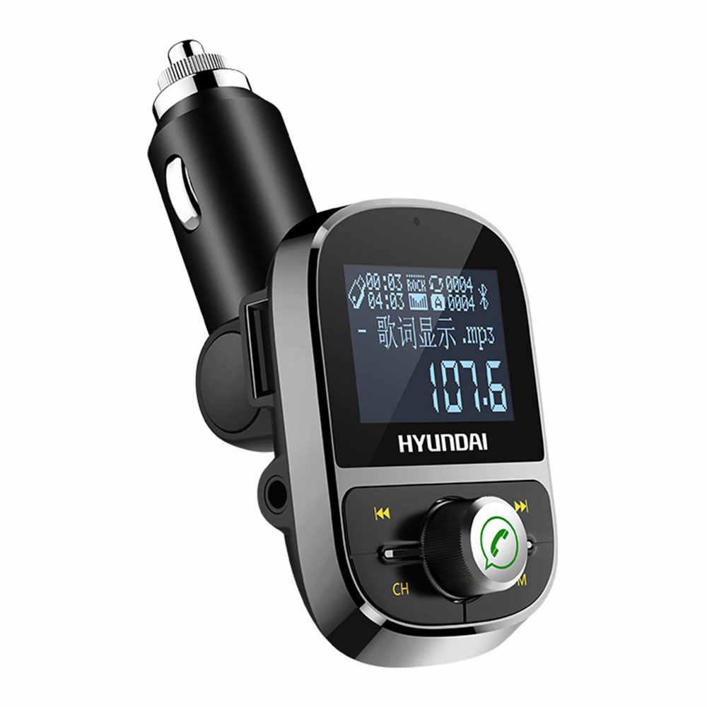 新車 MP3 プレーヤーの Bluetooth ハンズフリー大画面歌詞表示 Aux トランスミッター車ブルー歯 FM トランスミッタラジオ HY92