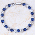 Gold Pink Cubic Zirconia Created Sapphire Bracelets & bangles S128