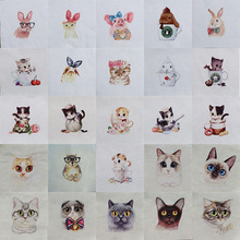 1pcs  Cotton Fabric Cat Rabbit design 12cmx12m Patchwork cloth sewing DIY Hand Embroidery Quilting Bags