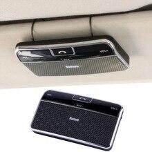 Universal Bluetooth 4.0 EDR manos Libres En el Coche Visera Manos Libres Kit de Coche Receptor de Música + Cargador de Coche venta caliente