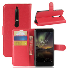 For Nokia 6 2018 Case Luxury Vintage PU Leather Wallet Flip Case Card Slot Holder Pouch Back Kickstand Cover For Nokia 6.1 2018 stylish plain flip open pu leather case w holder card slot for nokia lumia 520 pink