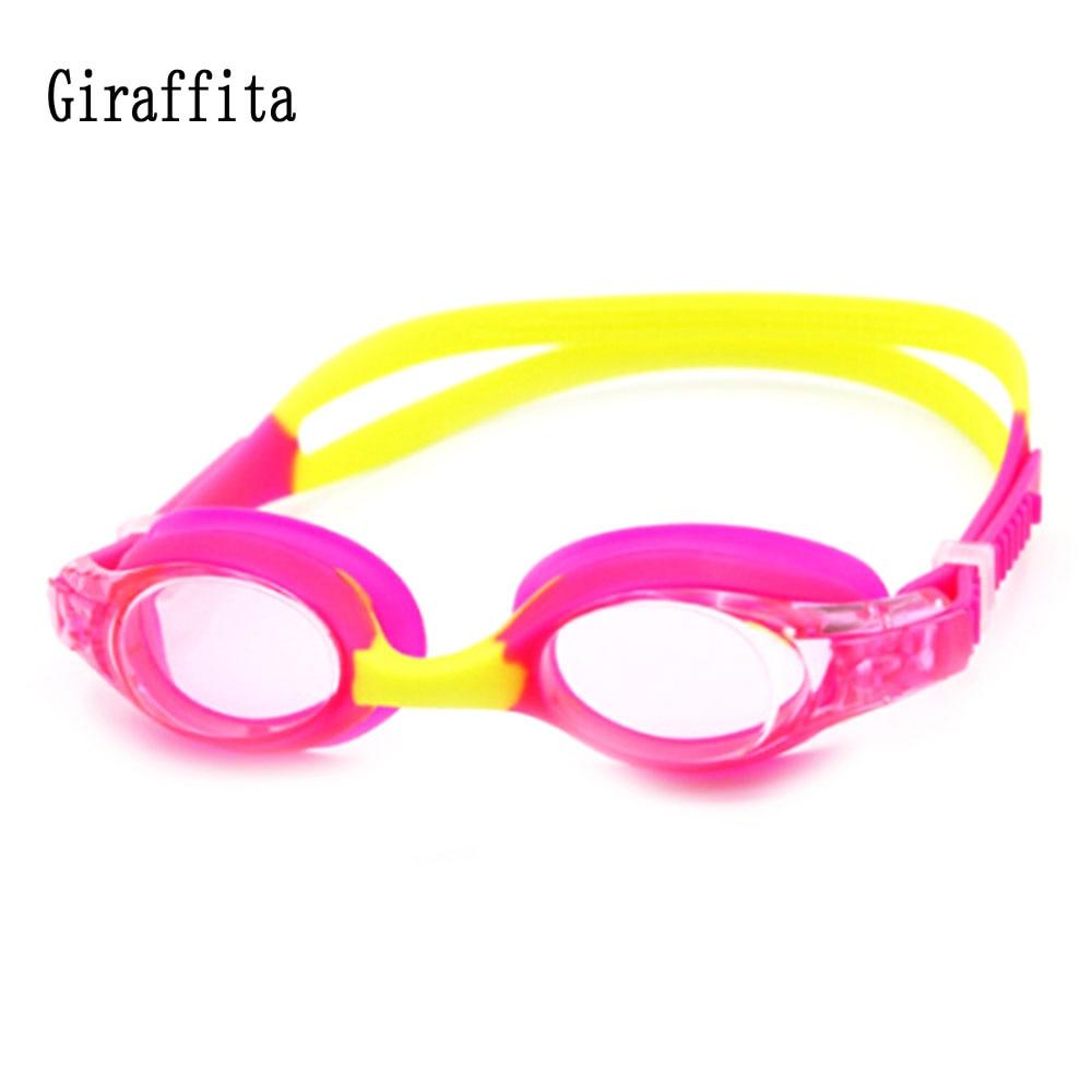 Giraffita Children Kids Swim Pool Underwater Anti Fog Waterproof Silicone Diving Swimming Goggles Water Glasses Eyewear Cartoon