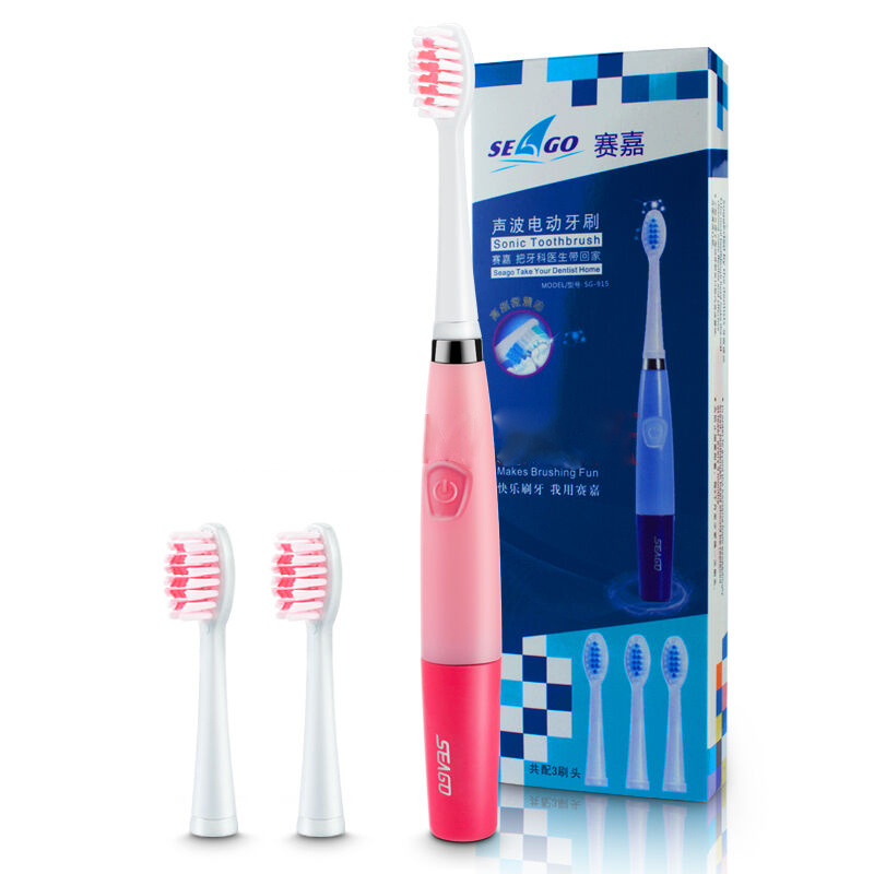 Electric Toothbrush For Adults Oral Hygiene Ultrasonic Sonic 23000 Micro-Brushes Per Minute With 2 Brush Heads Seago SG-915