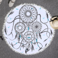 Hot Sale Indian Mandalas Round Beach Towel With Tassels Microfiber 150cm Summer Bikini Cover-Up Large Printing Bath Towel