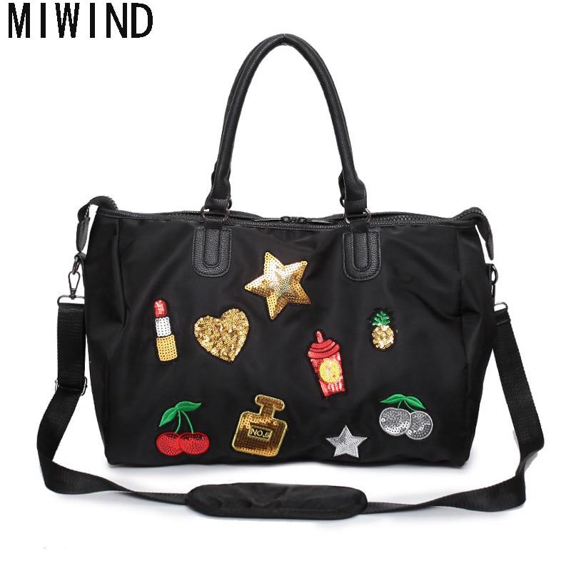 718078d188 MIWIND Waterproof Oxford Luggage Bag Large Capacity Travel Bag Women  Weekend Travel Duffle Tote Bags TAS804