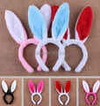 10 pcs a lot Kids adult rabbit ear bunny ears hairbands costume birthday party headband for children & adult