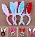 10 unids mucho niños adultos del oído de conejo de conejito oídos hairbands traje diadema fiesta de cumpleaños para niños y adultos
