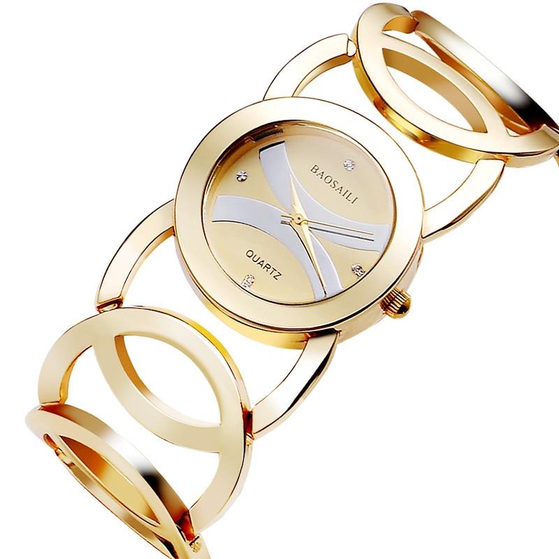 BAOSAILI Brand New Fashion Lady Gold Watchess