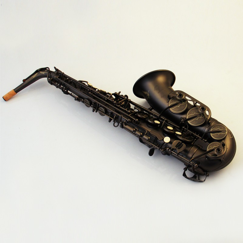 New MARGEWATE Alto Saxophone High Quality Brass Black Lacquer Tube Eb Sax Saxophone 54 With Case, Mouthpiece Free Shipping hot brand new gold lacquer eb alto trombone student horn nice tone instrumentos musicais profissionaltuba brass