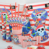 5 Set Funny Paper Birthday Party Tableware Decoration Set The Pirate Theme Wedding Paper Plates Cups