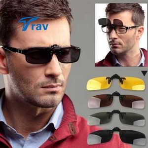 القيادة uv 400 ليلة الرؤية المستقطبة كليب على الوجه متابعة عدسة نظارات نظارات 3 اللون