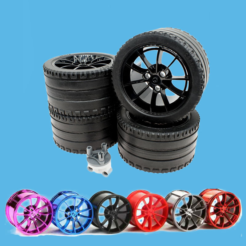 2Pcs/Lot Technic Wheel Decool 3368 <font><b>20001</b></font> Car Tyre 81.6*44mm ZR 23799+23800 Fit For 42056 MOC Brick Car <font><b>Blocks</b></font> DIY Toys image
