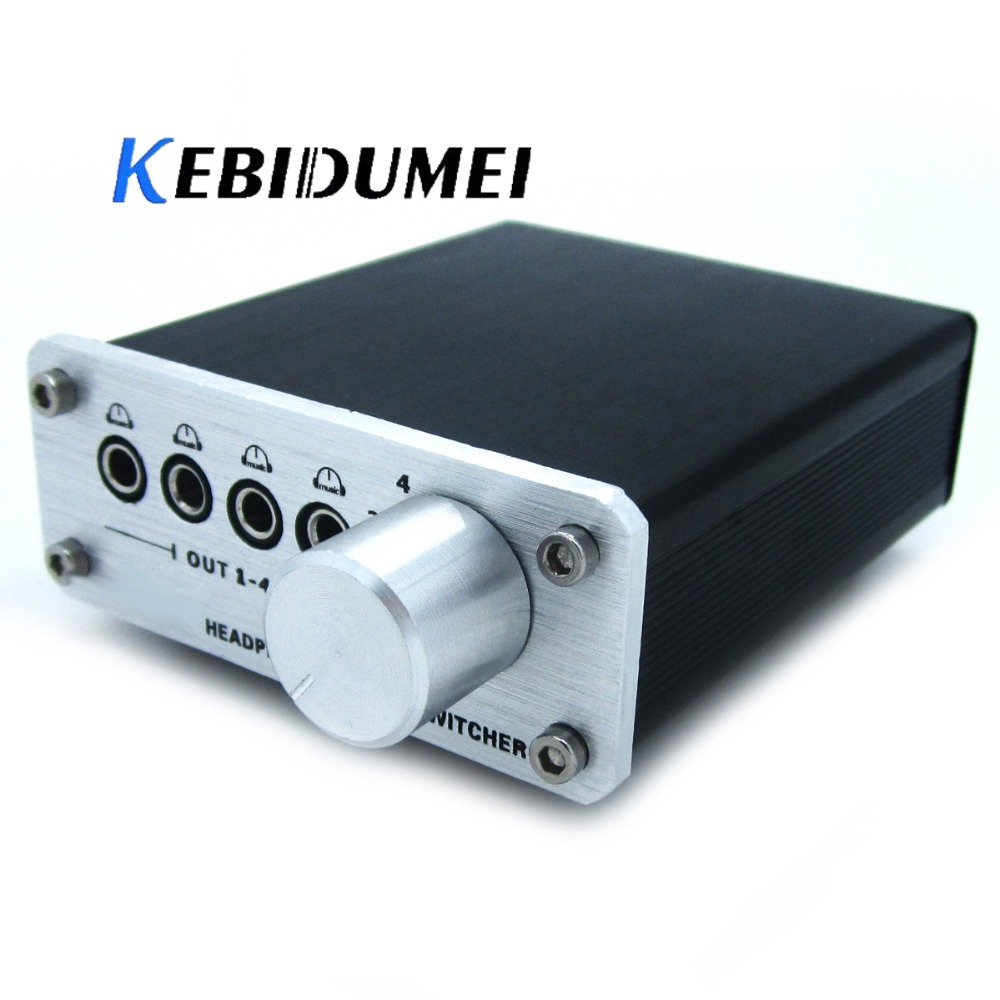 Humor Kebidumei A985 4 Input 4 Output Audio Signal Switcher Mp3 Headphone Multi-channel Switch 3.5mm Audio Signal For Television Dvd Pure And Mild Flavor Amplifier