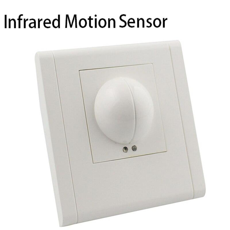 220v 240v Microwave Radar Infrared Body Motion Sensor Detector Light Switch Auto Ceiling Mounted For