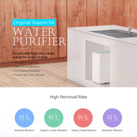 Оригинальный Xiaomi mi очиститель воды Сяо mi очиститель воды здоровья воды Поддержка WI FI Android IOS фильтры для воды для бытовых