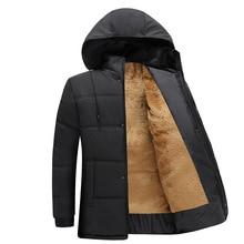 Winter Men's Jacket Thickening Casual Cotton Jacket Overcoat Windproof Waterproof Breathable Jacket Coat Parka Men's Outerwear